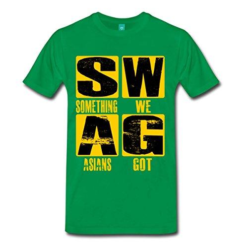 Spreadshirt Men'S Swag T-Shirt, Kelly Green, 3X