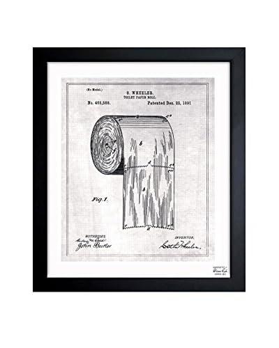 "Oliver Gal Artist Co. ""Toilet Paper Roll 1891"" Framed Art"
