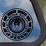 Battlestar Galactica Emblem Logo Black Decal Car Sticker