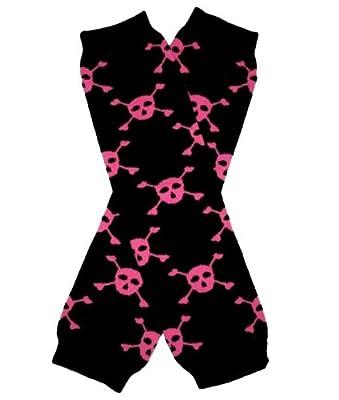 BLACK & PINK SKULL SKELETON Halloween Baby Sweet Leggings/Leggies/Leg Warmers - BubuBibi from BubuBibi