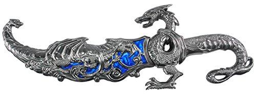 """Wuu Jau H-855-BL Dragon Display Dagger, 17.5"""", Blue"""