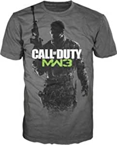 T-Shirt 'Call of Duty Modern Warfare 3' - Gunner logo - gris - Taille L