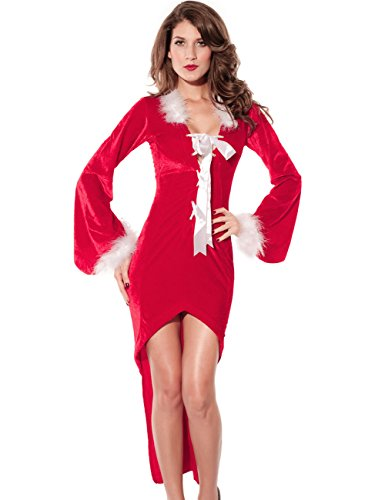 Born Miss Sexy Party Fancy Santa Dress Xmas Claus Adult Costume Outfit
