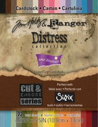 Darice Gx-1900-37 72-Pack Core'Dinations Tim Holtz And Ranger Color Core Cardstock, Distress, 4-1/4 By 5-1/2-Inch, Assorted Color front-1016679