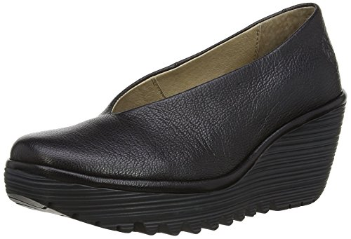 Fly London Yaz - Scarpe con Tacco Donna, Nero (Black 149), 39 EU