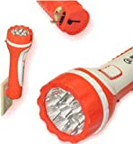 Rechargeable Flashlight 9 LED LARGE Torch Ultra Bright Plug In wall Charge 9""