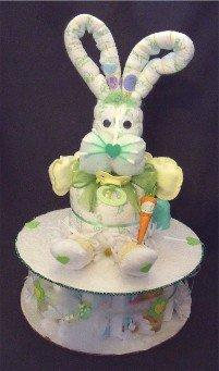 Easter Bunny Rabbit Diaper Cake Baby Shower Centerpiece