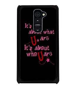 PrintDhaba Quote D-4901 Back Case Cover for LG G2 (Multi-Coloured)