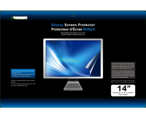 Green Onions Supply Rt-Spb1014/M Glossy Screen Protector For 14-Inch Laptop Or Lcd Monitor -1 Piece (Transparent)