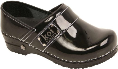 Sanita Women's Lindsey Clog,Black,42 EU/11.5-12 M US