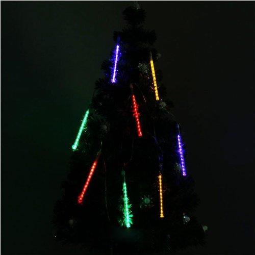 Yaruie New 50Cm 240 Led Xmas Colorful Meteor Effect Tube String Park Decor Lights