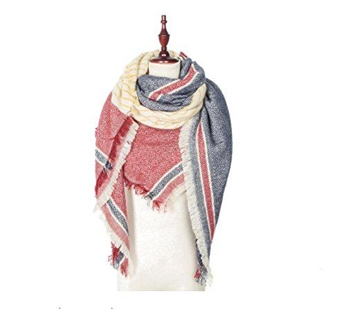 mxxyycoperta-plaid-inverno-caldo-lattice-sciarpa-grande-wrap-donna-wine-red