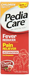 PediaCare Children's Fever Reducer Pain Reliever Liquid Cherry, 4oz