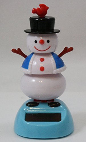 Solar Snowman with Hat - 1