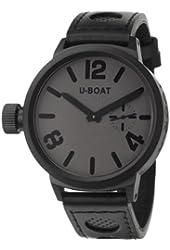 U-Boat Flight Deck MBG/MSG Men's Manual Watch 50-MB-GREY-BK