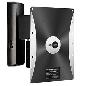 omnimount power40 articulating motorized wall mount for 23 to 46 displays black. Black Bedroom Furniture Sets. Home Design Ideas