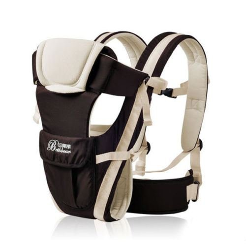 Baby Carrier Adjustable Infant Newborn Kid Comfort Wrap Rider Sling Backpack color Khaki
