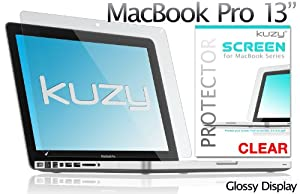 "Kuzy - 13inch Clear Screen Protector Film for Apple MacBook Pro 13.3"" (A1278) Aluminum Unibody Only: CLEAR"
