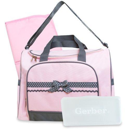 Gerber Duffel Style Diaper Tote Bag, Pink by Gerber (English Manual)