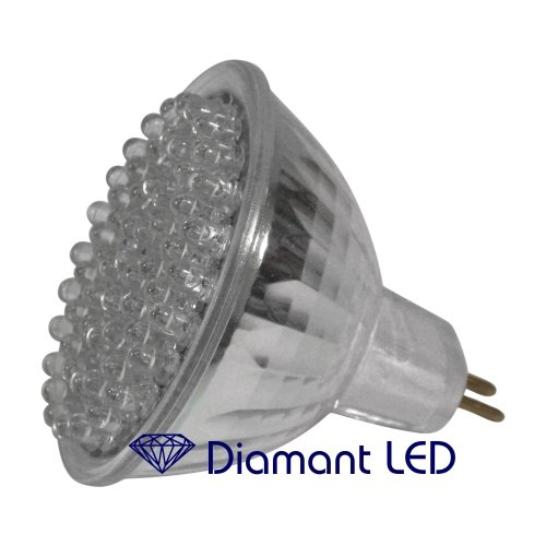 DiamantLED GU5,3 Flood Lampe 60 LED – wie 15 Watt Halogen Reflektor 120° 220V LEDs Leuchte warmweiss