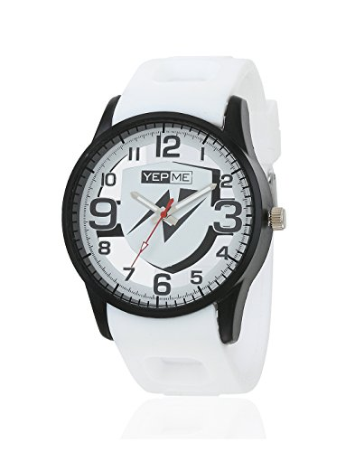 Yepme Men's Transparent Analog Watch – Black/White_YPMWATCH3156