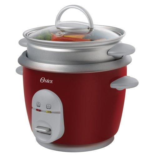 Imagen de Oster 4722 6 Rice-Cup (cocinado) Olla de vapor con bandeja, Rojo