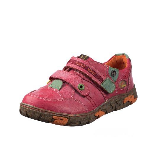 TMA EYES 1367 Klettschuh Gr.36-42 mit bequemen perforiertem Fußbett , Leder 39.35 super leichter Schuh der neuen Saison. ATMUNGSAKTIV in Rot Gr.36