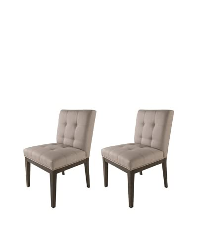Sunpan Set of 2 Felicia Dining Chairs, Linen As You See