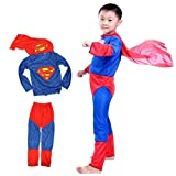 #6: Theme My Party Superman superhero Fancy dress costume for kids (6-8 Years)