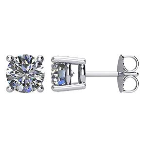 LIOR - Boucles d'oreilles en Or blanc 585/1000 et Diamants Solitaires 0.20ct