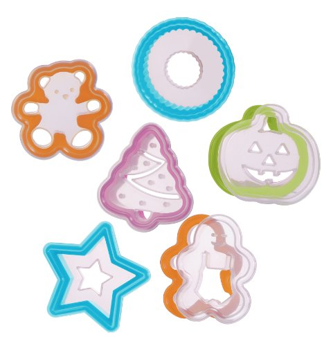 Progressive International 12 Piece Holiday Cookie Cutter and Stencil Set