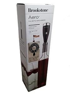 Brookstone Aero Full Bottle Wine Aerator - Includes 2 Wine Stems by Brookstone