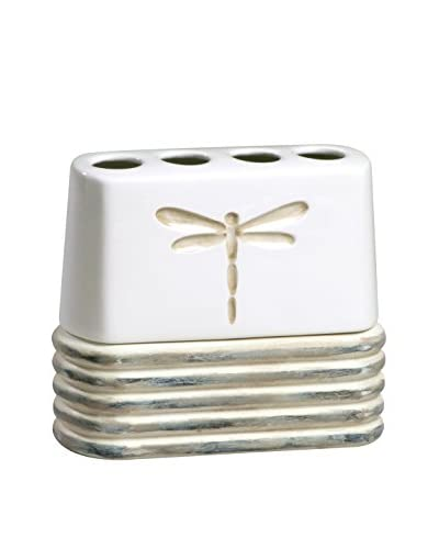 Creative Bath Dragonfly Toothbrush Holder, Beige/White