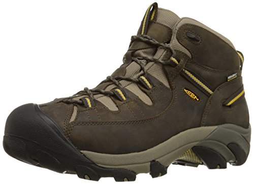 KEEN Men's Targhee II Mid WP Hiking Boot,Black Olive/Yellow,10 M US