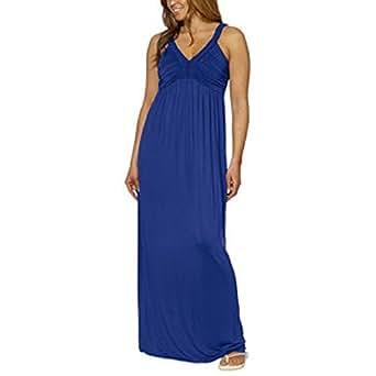 Design History Ladies' Maxi Dress-Cobalt Blue at Amazon ...