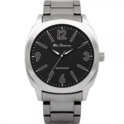 Ben Sherman Men's Quartz Watch with Blue Dial Analogue Display and Silver Stainless Steel Plated Bracelet R870.00BS