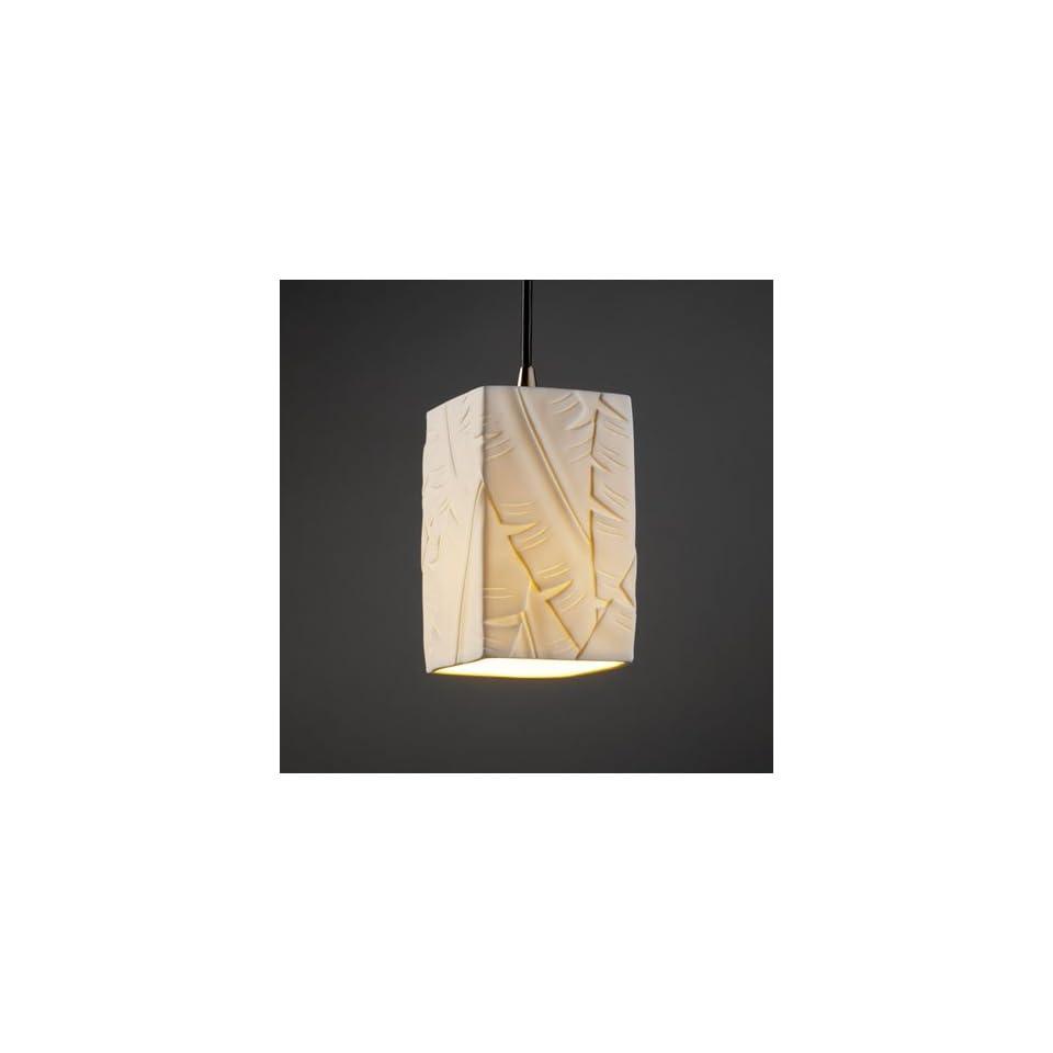 Justice Design Group POR 8816 15 BMBO NCKL Limoges 1 Light Pendants in Brushed Nickel