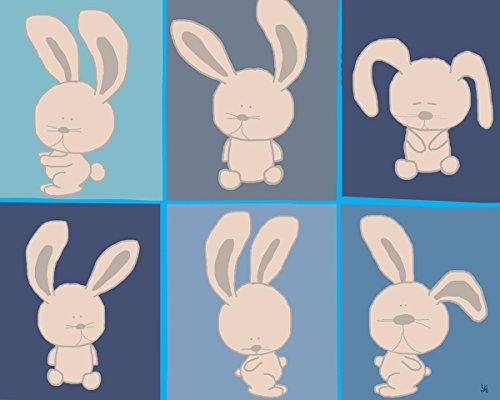 Green Leaf Art Yoga Bunnies Canvas Art