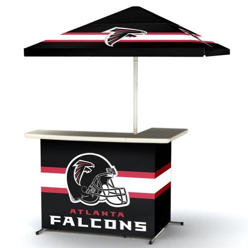 Nfl Atlanta Falcons Portable Wheeled Travel Bag L-Shape Umbrella Basic Bar Black