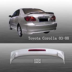 Amazon.com: Spoiler Wing OE Style W/ LED for Toyota Corolla 03-08