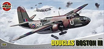 Airfix A04033 1:72 Scale Douglas Boston III Military Aircraft Classic Kit Series 4