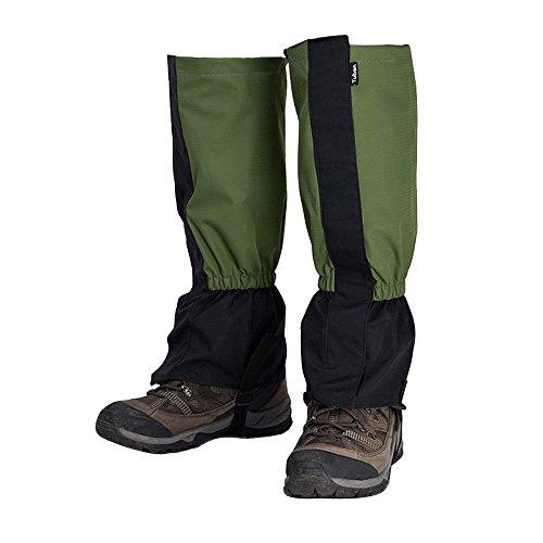 Eizur Unisex Impermeabili Traspirante Ghette Alpinismo Gaiters Protettive Snow Campeggio Ghetta Gamba Copre Esterna Avvolgere Trekking Legging per Escursionismo Passeggiate Taglia Unica Caccia Sci Scuro Verde