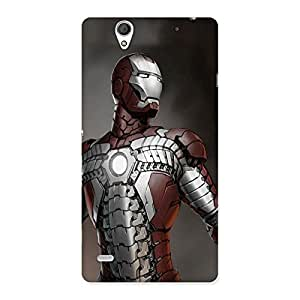 Ajay Enterprises Iron Man Updated Back Case Cover for Sony Xperia C4