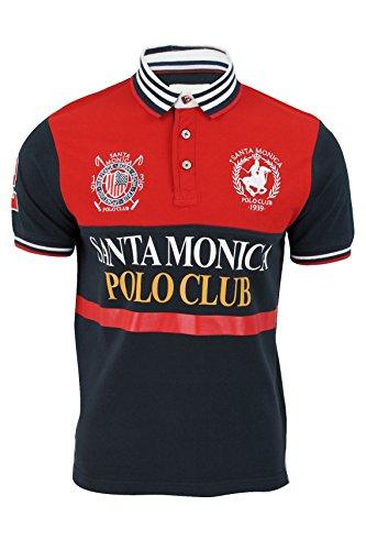 Polo Maglia Da Uomo Santa Monica Maniche Corte (Rosso) L