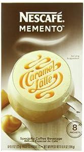 Nescafe Memento Coffee, Caramel Latte, 8 - Count