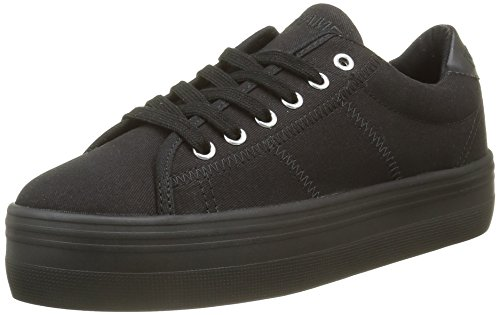 No NamePlato - Scarpe da Ginnastica Basse Donna , Nero (Noir (Canvas Black Fox Black)), 37