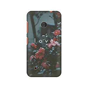 Motivatebox- Faded Love Premium Printed Case For Nokia Lumia 530 -Matte Polycarbonate 3D Hard case Mobile Cell Phone Protective BACK CASE COVER. Hard Shockproof Scratch-