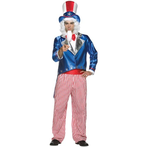 Uncle Sam Costume - One Size - Chest Size 42-48