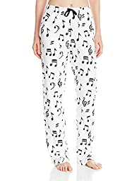 Little Blue House By Hatley Women\'s LBH Pajama Pants - Music Notes, White, X-Large