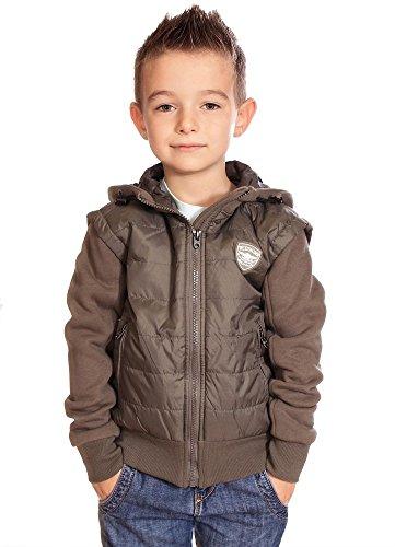 Redskins bambini-Giacca-piumino in bimateriale Lanky ragazzo inverno 2016, colore: kaki verde 16 anni